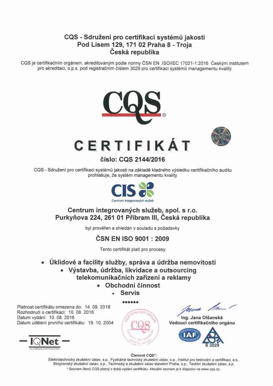 ISO Systém managementu kvality